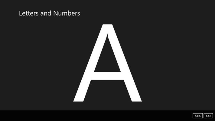 Learn the Alphabet.