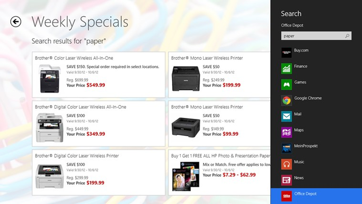 Customers can search the weekly deal specials.