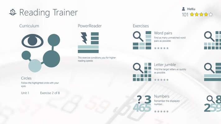 Reading Trainer for Windows 8
