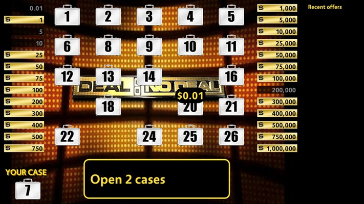 1. Starting out, we picked case 7 and just opened $0.01 case