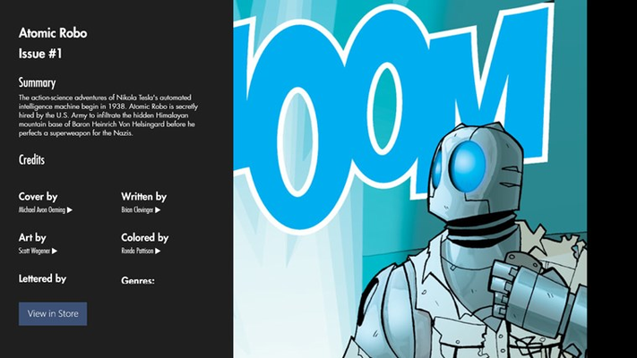 Comic Reader View - Comic Info