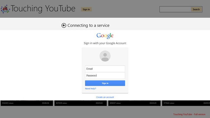 Access YouTube account...