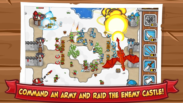 Command an army and raid the enemy castle!