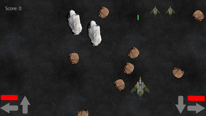 Shoot the asteroids before they get you.