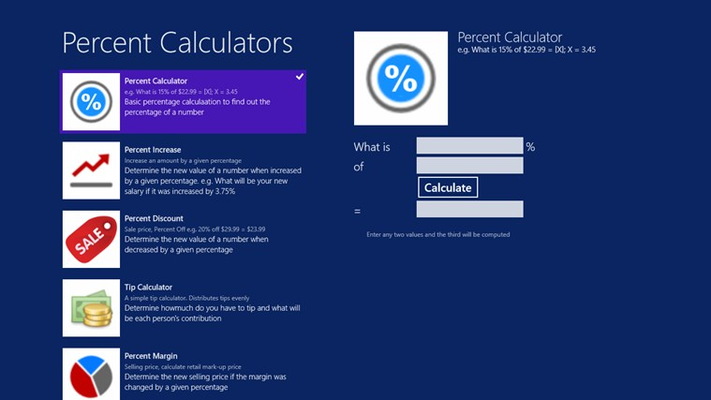 Percent Calculator