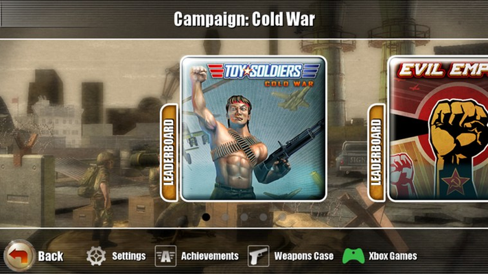 Three campaigns to choose from: The original Cold War campaign, Evil Empire, and Napalm!