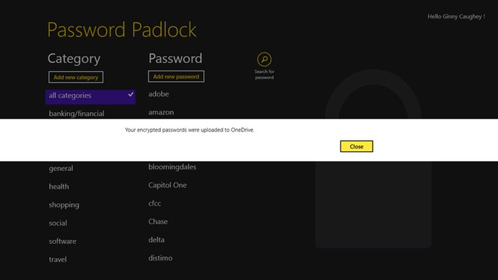 Password Padlock for Windows 8