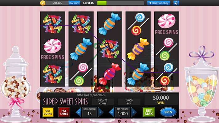 Big winnings available in Super Sweet Spins!