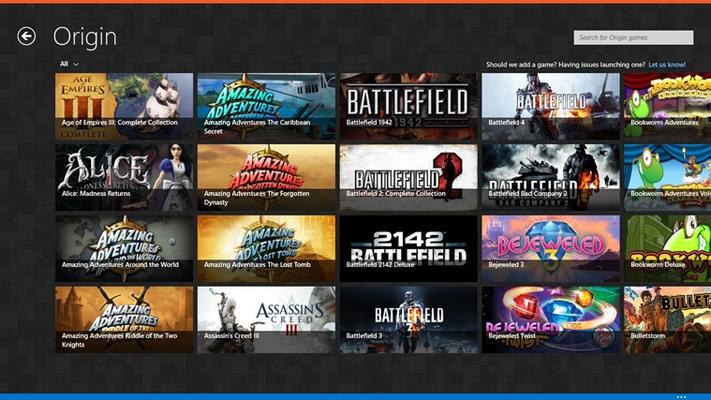 Pin your Origin games.