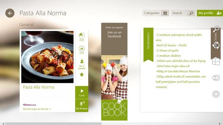 Recipe detail page