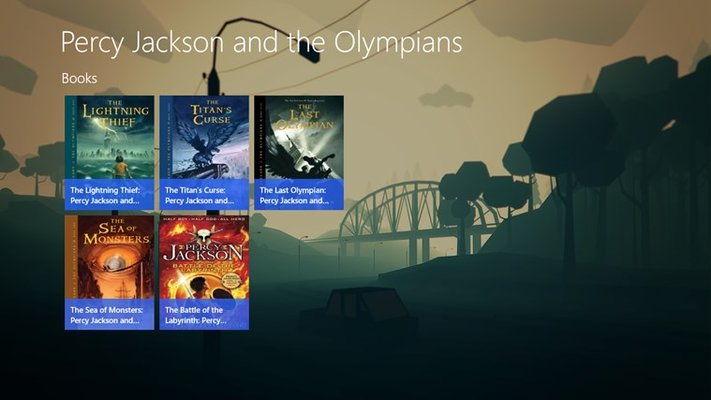 Percy Jackson and the Olympians (Audiobook) for Windows 8