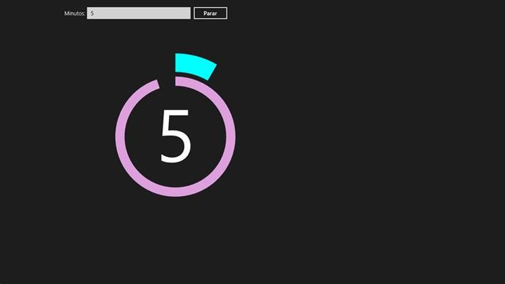 interface único da aplicação, com um exemplo a correr!