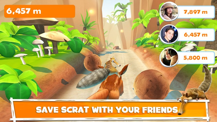 Save Scrat with your friends