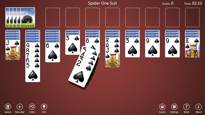 Spider One Suit game in progress