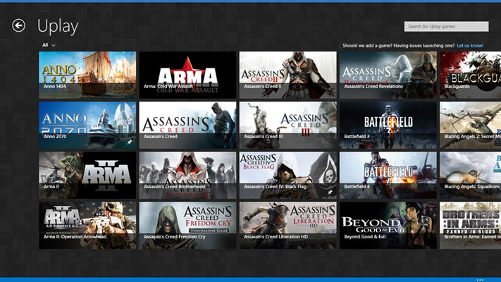 Pin your Uplay games.