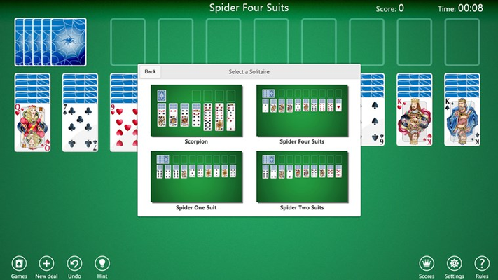 Select a solitaire
