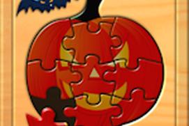 Kids Halloween Jigsaw Puzzle Logic and Memory Games for preschool children