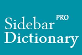 Sidebar Dictionary Pro