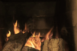 Chimney fireplace - virtual fireplace for your living room
