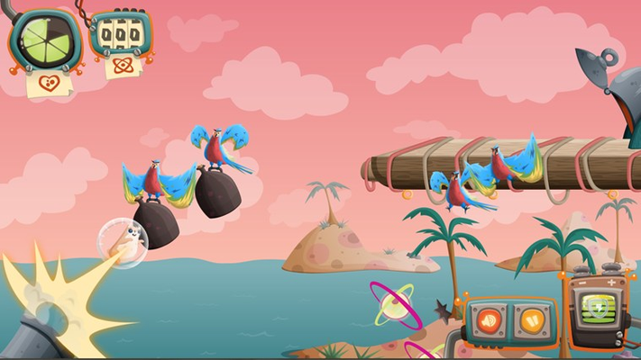 Battle parrots on the High Seas! CANNONS!