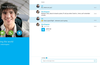 Exchange instant messages, photos and files with all your Skype, Messenger and Outlook.com contacts.