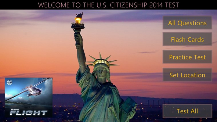 U.S. Citizenship 2016 Test for Windows 8