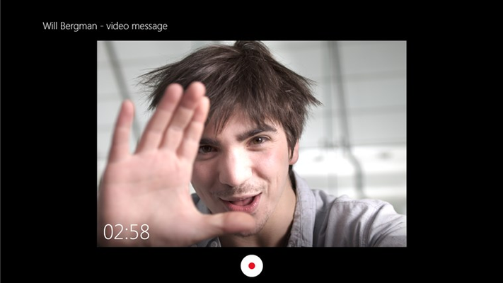 Send rich video messages whether your friends are on or offline.