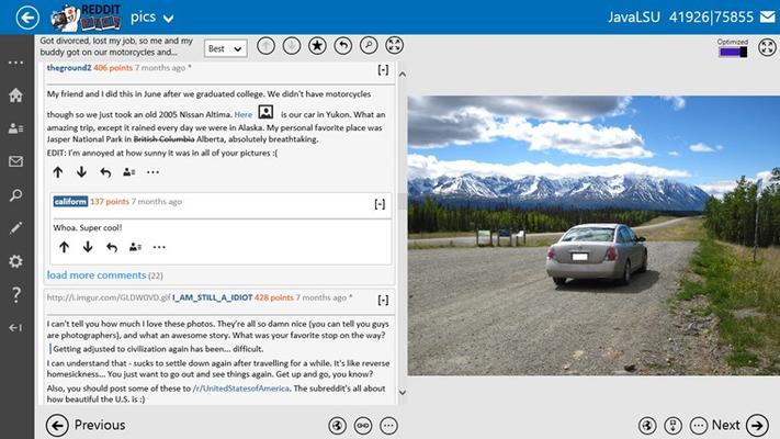 Redditting for Reddit for Windows 8