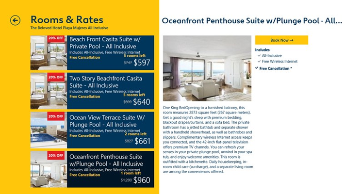See all the rooms and rates hotels have to offer