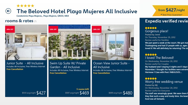 Room and rate details including Expedia Mobile Exclusive Rates
