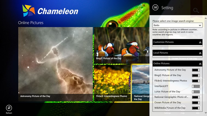 Chameleon for Windows 8