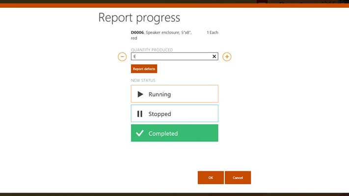 Report progress form