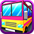 Blocky High School Bus Driver
