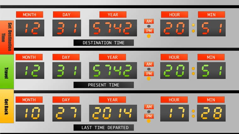 Time Control Panel : Time machine control panel for windows and