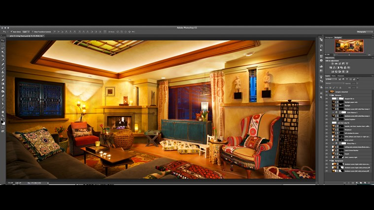 Photoshop For Interior Design Living Room Composite Tutorial