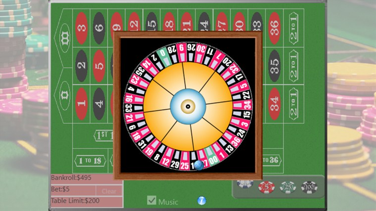 Roulette windows