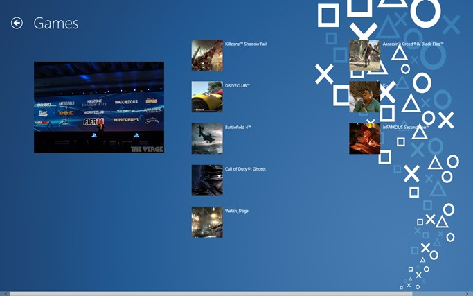 Playstation 4 Info and Games for Windows 8 and 8.1