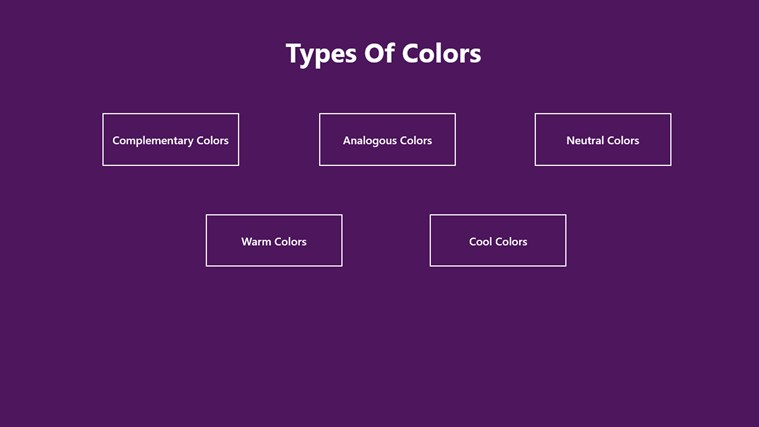 types of colors for windows 8 and 8 1