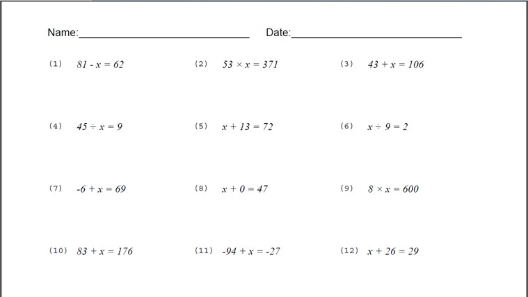 Binomial Equation Worksheet for Windows 8 and 8.1