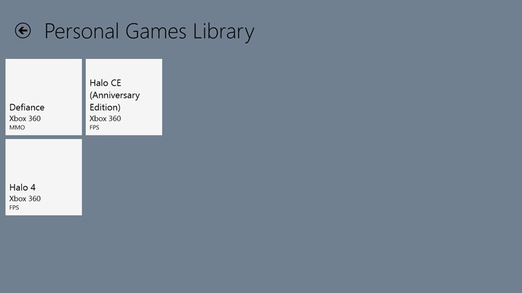 Games Library Tracker for Windows 8 and 8.1