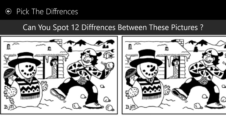 Find the difference in two pictures for adults