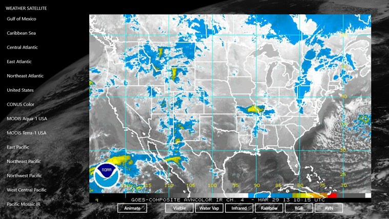 Weather Satellite For Windows And - Weather radar gulf of mexico satellite