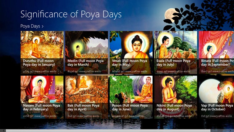 significance of poya days for windows 8 and 8 1