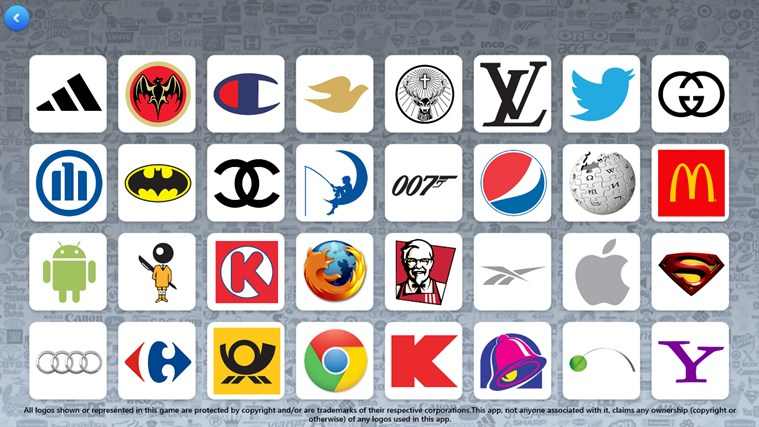 Guess 1000's of logos of brands and companies from around the World ...