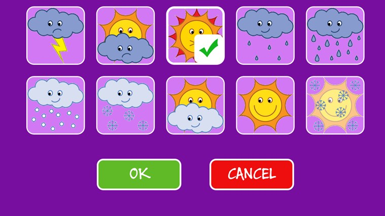 Kids Weather Calendar : Kids calendar the weather for windows and