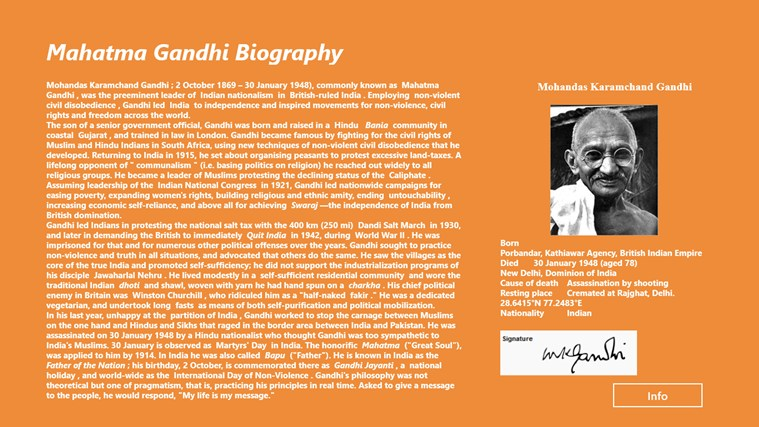 biography of mahatma gandhi in english