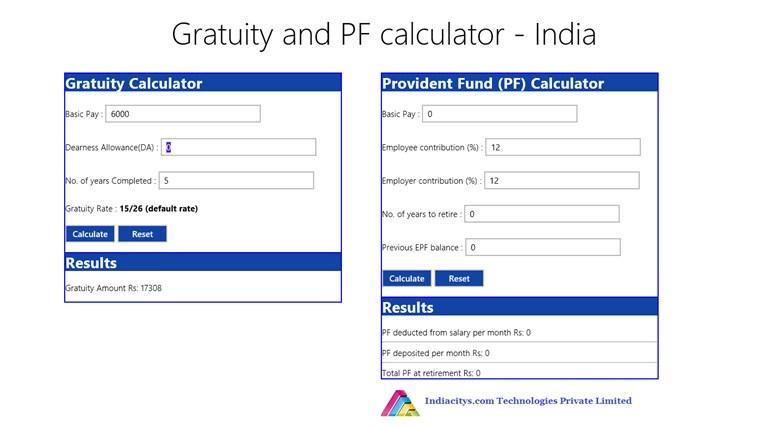 gratuity calculator india