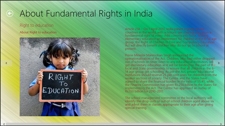 information about fundamental rights