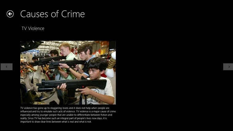 causes of crime essay It is difficult to give a brief discussion on the causes of crime, as the subject is both broad and technical this essay provides a brief overview, in simple terms, of what is known about factors that cause crime, and the issues that could make some individuals more likely to become involved in crime than some others.