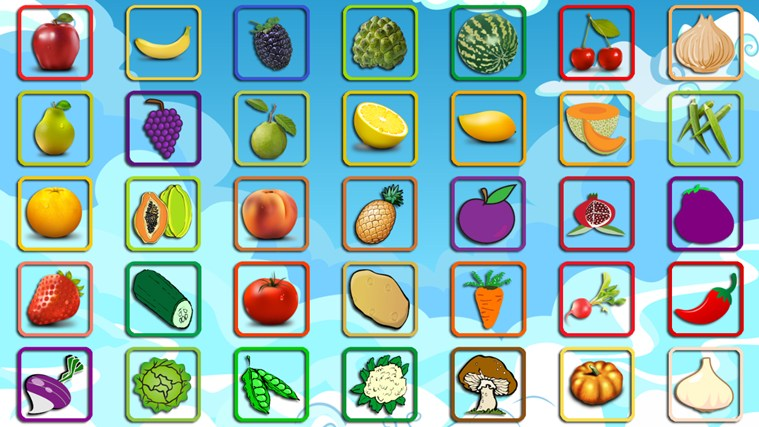 Fruit and Vegetable Coloring Pages for Kids for Windows 8 and 81